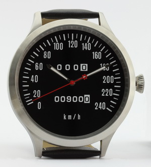 Z1, Z 900 und KZ 900 Caliber 65 speedometer watch with km/h scale