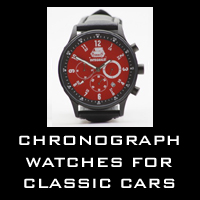 Chronograph watches for classic cars