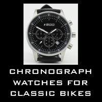 Chronograph watches for classic motorcycles