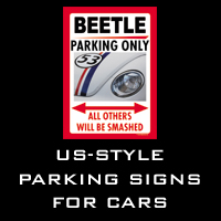 US-style parking signs for cars