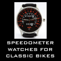 Speedometer watches for classic motorcycles