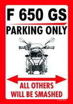 F 650 GS PARKING ONLY