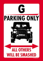 G PARKING ONLY