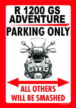 PITSTOPCOM THE ULTIMATE ONLINE STORE FOR ALL MOTORING AND DOG - Bmw parking only signs