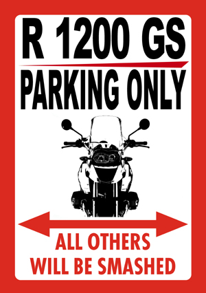 R 1200 GS PARKING ONLY